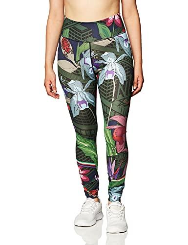 NIKE - W One Tght Icnclsh PRT - Pantalones Deportivos para Mujer, Mujer, Pantalones Deportivos, CU5054, Bright Crimson/Black, S