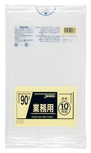 【業務用】 ジャパックス 90L 透明 10枚