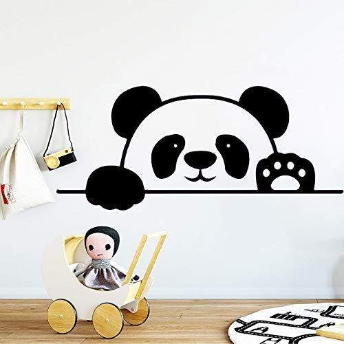 wZUN Panda Etiqueta de la Pared jardín de Infantes Vinilo Pared calcomanía Oso Animal Alegre niños Dormitorio extraíble Impermeable decoración del hogar 28X63cm