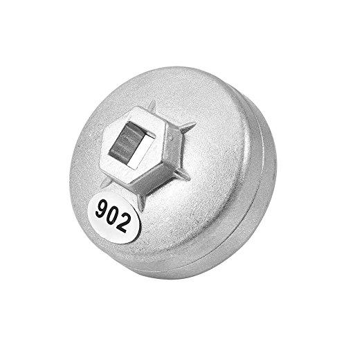 Bouchon en aluminium,Clé de filtre à huile 14 cannelures en aluminium 902, outil de retrait de douille de voiture