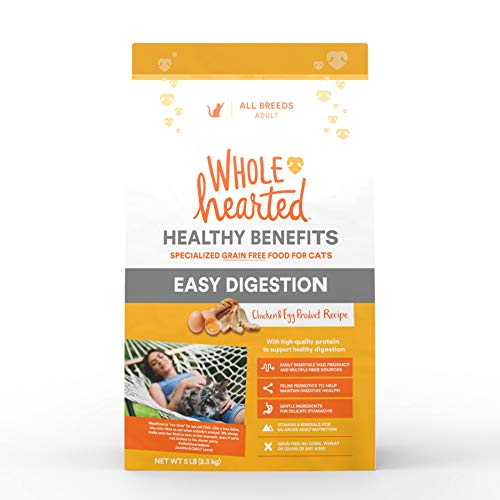 WholeHearted Healthy Benefits Easy Digestion Chicken and Egg Dry Cat Food