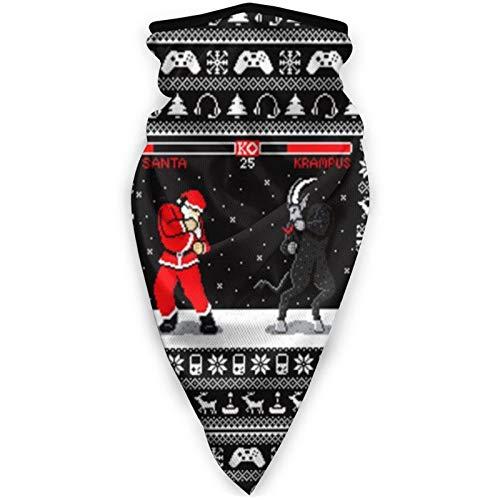 Cl4zyott Ko Xmas Santa Multifunktionale Gesichts-Bandanas UV-Widerstand Kopfbedeckung Elastisch Schal