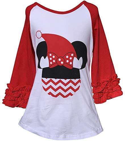 Little Girls Ruffle Sleeve Unicorn Pumpkin Halloween Raglan Top T-Shirt Te 3