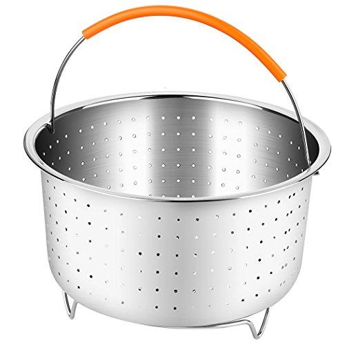 PPUNSON Steamer Basket Vegetable 6 or 8 Quart Pressure Cooker