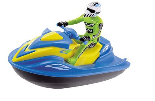 Dickie Toys batteriebetriebener Jet Ski mit Figur, Spielzeugjetski, schwimmfähig, 2 verschiedene Farben, zufällige Auswahl, 18 cm, ab 3 Jahren