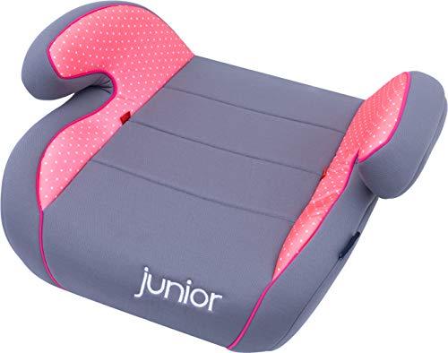 Petex Auto-Kindersitzerhöhung Max 104 ECE-Gruppe 2-3, Kinder von ca. 3,5-12 Jahre 15-36 kg, grau/rosa