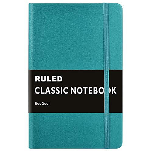 Ruled Notebook/Journal – Premium Thick Paper Faux Leather Classic Writing Notebook, Green, Hard Cover, Lined (5.4 x 8.3)