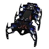 H HILABEE Kits De Aprendizaje De 6 Pies De Black Spider Robot Robot Programable