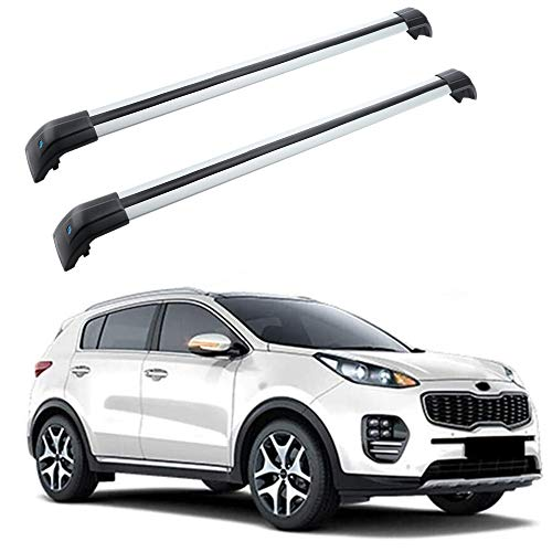 MotorFansClub Roof Rack Cross Bars Fit for Compatible with KIA New Sportage 2016 2017 2018 2019 Crossbars Baggage Cargo Luggage Rack