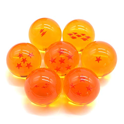 7 Pcs DBZ Acrylic Crystal Balls Home Decorative Balls Anime Collection Balls for Cosplay Party and Wedding