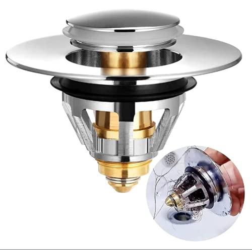 Colador de desagüe de acero inoxidable, filtro desplegable para lavabo, núcleo de bolas, edición de desagüe, filtro de pelo para lavabo, baño, cocina