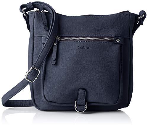 Gabor bags Umhängetasche Damen Hanne, Blau, S, Handtasche, Gabor Tasche Damen