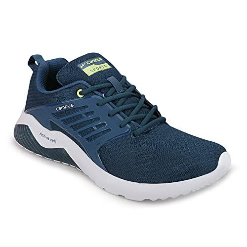 Campus Men's Crysta T.BLU/GRN Running Shoe-9 UK (CG-284)