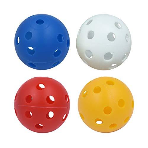 Vosarea 20pcs balles de pratique de golf en plastique creuses balles de jeu entraînant des balles de sport (Couleur mélangée)