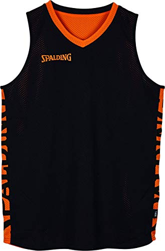 Spalding Mens 300202506_XXXL T-Shirt, Black,orange