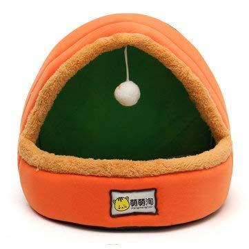 Terrarum Opvouwbare Kennel Hond Bed Voor Honden Katten Dieren Huisdier Huis Tent Alle seizoenen Wasbaar Kussen - Blauw, Oranje