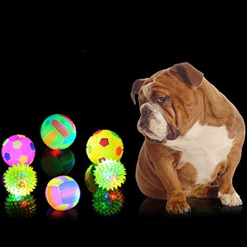 Perro Bola del Juguete for Mascotas Chew Toy Squeak for Perros de Goma a Prueba de Agua de Juguete con Sonido for el Entrenamiento Mascotas competiciones de natación, Color al Azar Huangchuxin