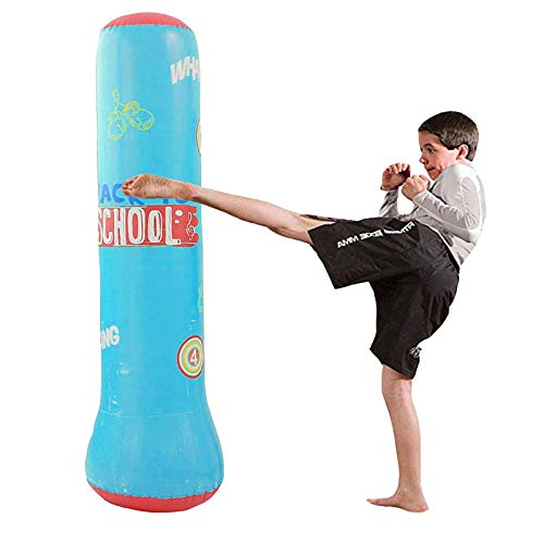 Inflatable Punching Bag Free Stand, Heavy Training Bag, Adults Teenage Fitness Sport Stress Relief Boxing Target for Women and Kids Child Toddle(Flamingo)