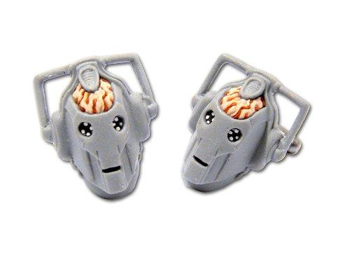 Dr Who cyberman 3D en caoutchouc boutons de manchette