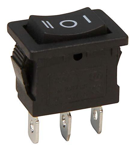 MC POWER - Wippenschalter | 3-polig, schwarze Wippe, AC 250V/6A