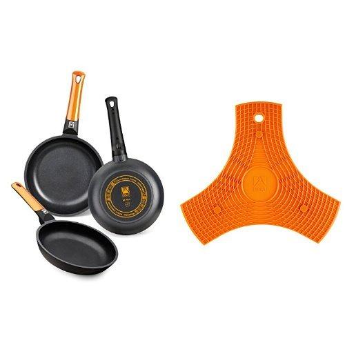 BRA Efficient Orange: Set de 3 sartenes