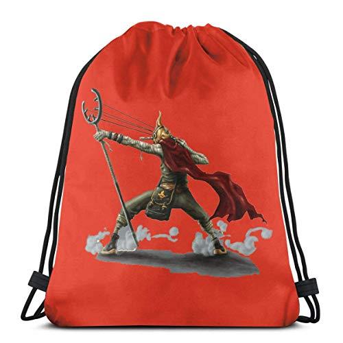 LREFON Usopp One Piece Sport Bag Gym Sack Mochila con cordón