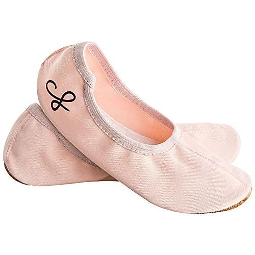 Siegertreppchen® Turnschläppchen Stoff (Größe 30) Rosa   Gymnastikschuhe für Mädchen & Jungen  Ballettschuhe atmungsaktiv & rutschfest