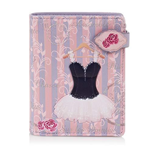 SHAGWEAR ® Portemonnaie Geldbörse Damen Geldbeutel Mädchen | Bifold Mehrfarbig Portmonee Designs: (Ballerina)