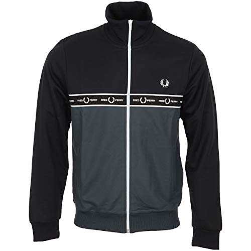 Fred Perry Taped Chest Track Jacket, Sportjackett - M