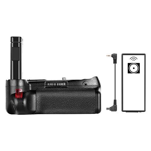 Empuñadura de batería Vertical Profesional de Neewer Funciona con batería Recargable EN-EL14a para cámara réflex Nikon D5500 (batería no incluida).