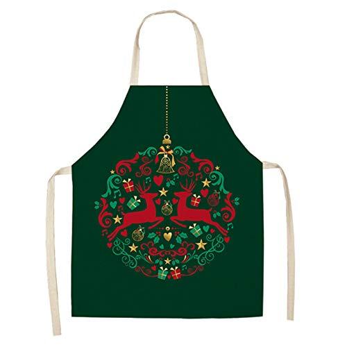 YIKXCF Decoraciones navideñas para el hogar 1 PCS Santa Claus Navidad Delantal...
