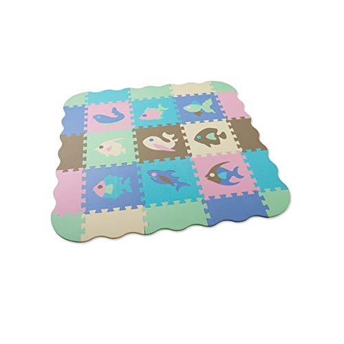 HSLJ1 Suave espuma de EVA del color multi del bebé juega las esteras for el piso Rompecabezas Puzzles Mesa plegable portátil enclavamiento de los Azulejos de suelo Accesorios de gimnasio en casa aptit