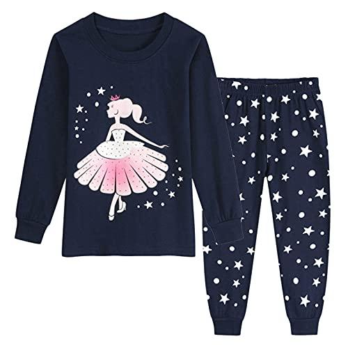Baby Pijamas Jungen Mädchen Langarm Rundhals Cartoon Dinosaurier Drucken Pyjamas Nachtwäsche T-Shirt Hosen Set Outfits Kleinkind Kinder