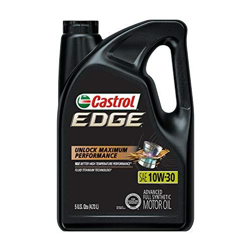 Castrol 03081 Edge 10W-30 Advanced Full Synthetic Motor Oil, 5 Quart
