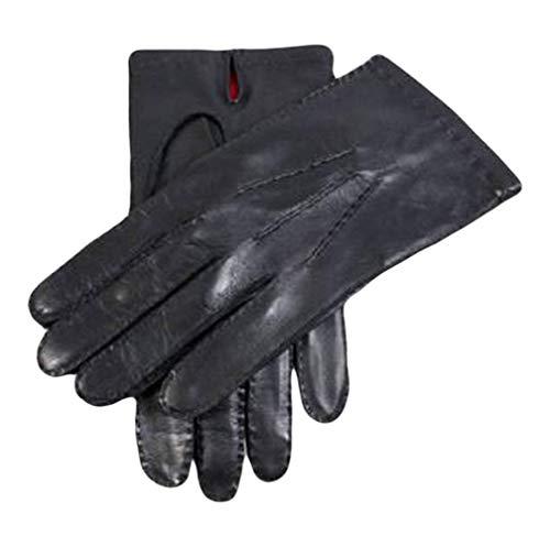 Dents Black Silk doublé gants en cuir Kingston 8