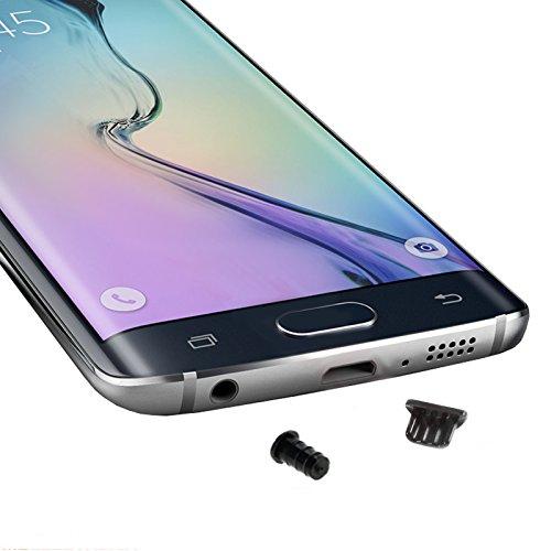 MOELECTRONIX 4X Staubschutz SCHWARZ Kopfhörer Kappe Micro USB Stöpsel passend für Huawei P Smart+ 2019