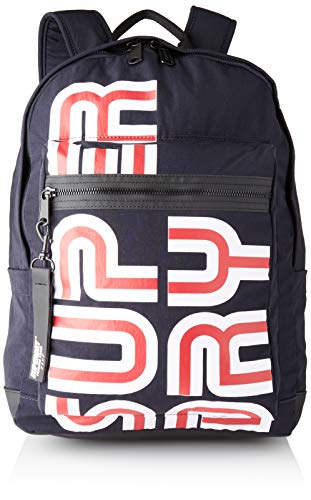 Superdry Damen Nostalgia Backpack Rucksack, Blau (Dark Navy), 30x42x15 cm