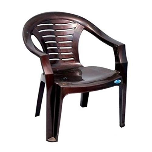 Nilkamal 2155 Plastic Chair (Brown)