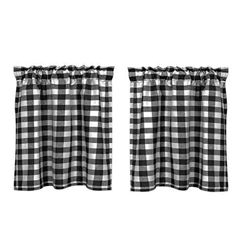 LOVIVER Fenster Tiers Vorhänge Schabracken für Küche Gitter, Top Tasche Halben Vorhang Tier für Kinderzimmer Schlafzimmer - 68x90cm 2 Panle
