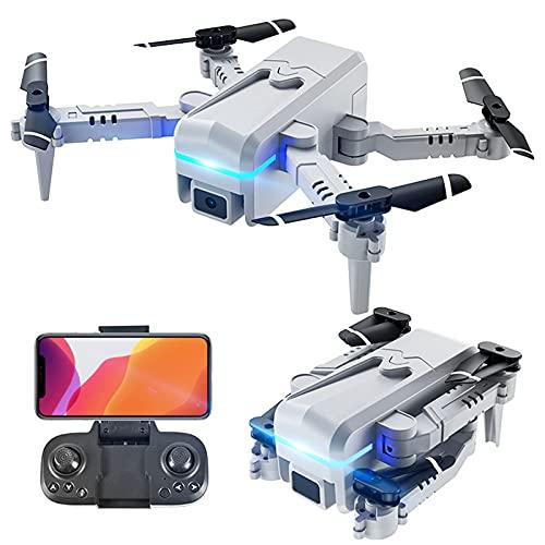 GZTYLQQ Droni con Fotocamera per Adulti 4k, Mini Drone telecomandato Pieghevole a Quattro Assi, Aereo per Fotografia Aerea ad Alta Definizione 4K a Doppio Obiettivo
