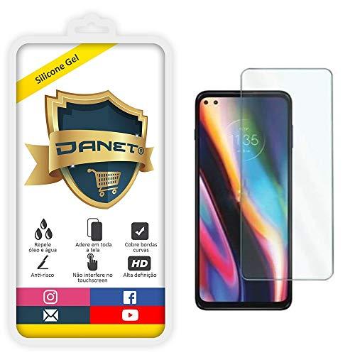 """Película de Gel Full Cover de Silicone Flexível Para Motorola Moto G 5G Plus com Tela de 6.7"""" polegadas - Proteção Que Adere E Cobre Toda A Tela - Danet"""