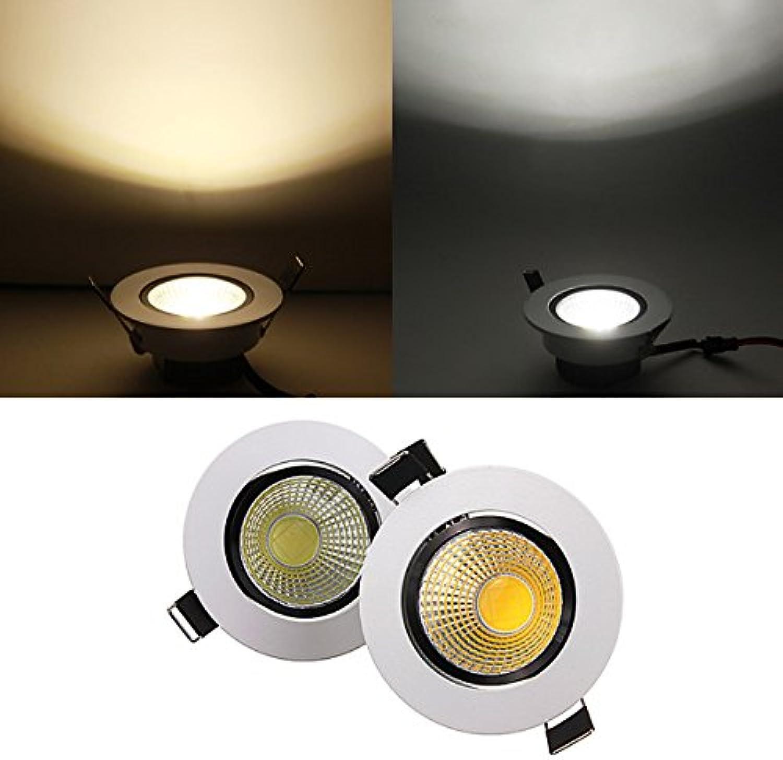 HTAIYN 6W dimmbare COB LED Deckeneinbauleuchte 220V popular (Farbe   Cool Weiß) B07MYKRBT4  | Lebensecht