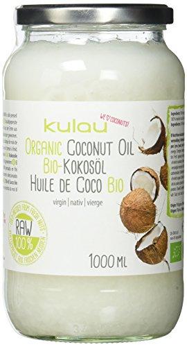 KULAU Bio Kokosöl nativ & kaltgepresst, Kokosfett vegan zum Kochen & Braten, Kokosnussöl für Haut und Haare (1 x 1l)