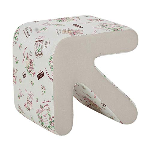 Arrow features Ottoman footstool,Cotton linen Footrest Makeup stool Change shoe stool Living room Bedroom Coffee table Dressing sofa stool-pattern S