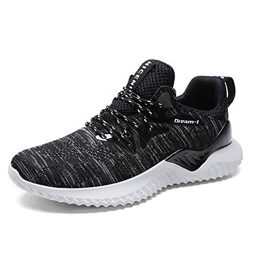 Chaussures de Sport pour Hommes, entraîneurs légers Fitness Casual Sports Walk Gym Jogging Baskets Sportives Automne,Gray,46