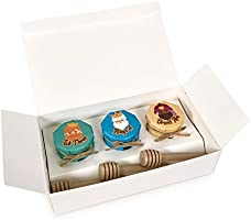 HoneySpree Honey Gifts, Honey 3 IN 1 Gift Set (3 Kings), 30gm Mini Honey Jars x 3, Christmas Gifts