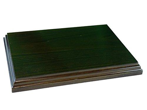 greca Peana Rectangular. Acabado Barniz Nogal Satinado. Madera Maciza. (25 * 18 cms)