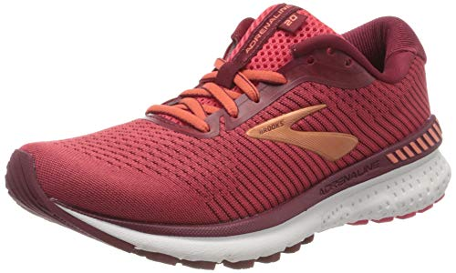 Brooks Women's Adrenaline Gts 20 Running Shoes, Rumba Red / Teaberry / Coral, 3 UK (35.5 EU)