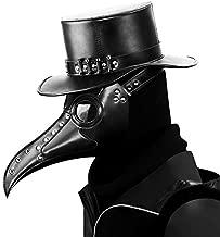 HengKe Plague Doctor Retro Doctor Bird Mask Bird Mask Gothic Retro Steampunk Props Long Nose Beak Cosplay Masks for Halloween Costume