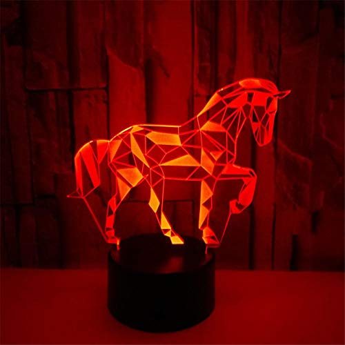 Christmas Decoration Gifts Creative 3D Zebra Night Light Led Puzzle Horse USB Visual Small Table Lamp-Crack